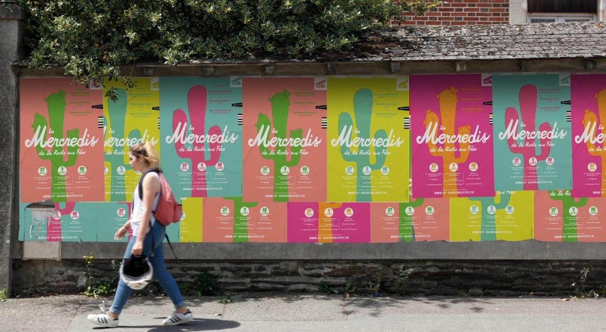 Affiches dans la rue Mercredis de la Roche aux Fées 2016