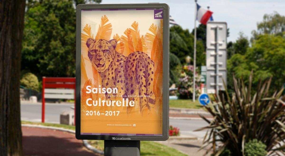 Affiche Saison culturelle dans la rue