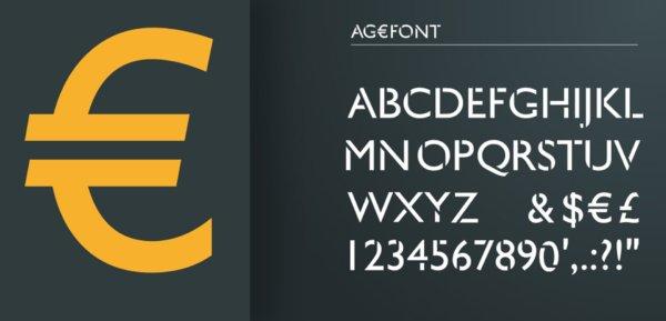 travail typographique pour Ageso, entreprise à Rennes