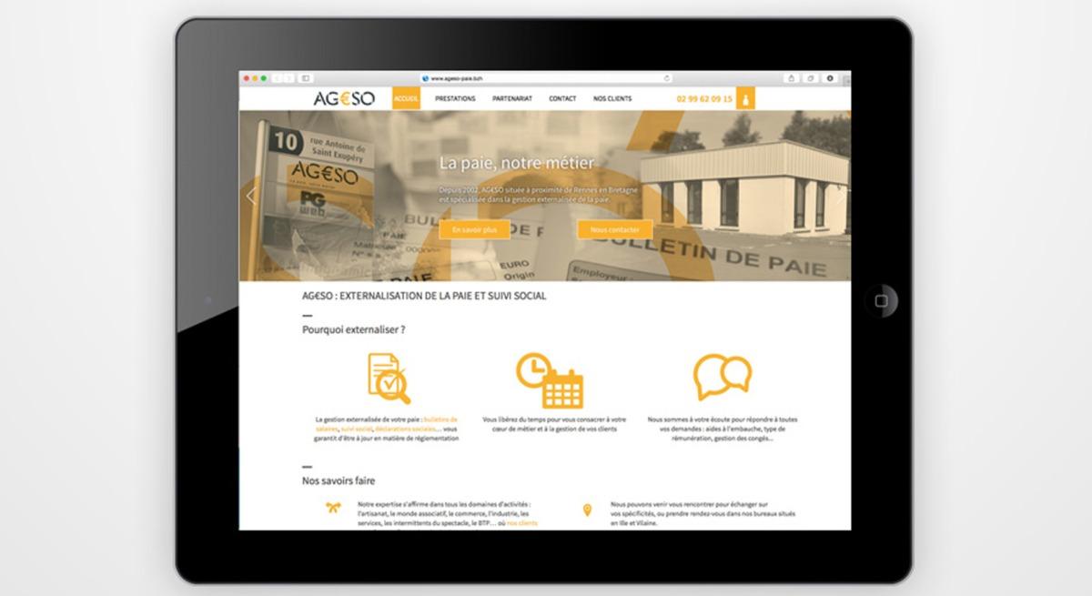 Création Page site internet AGESSO