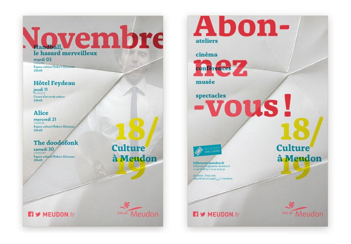 AFFICHE saison culturelle - MEUDON _ Hauts de Seine
