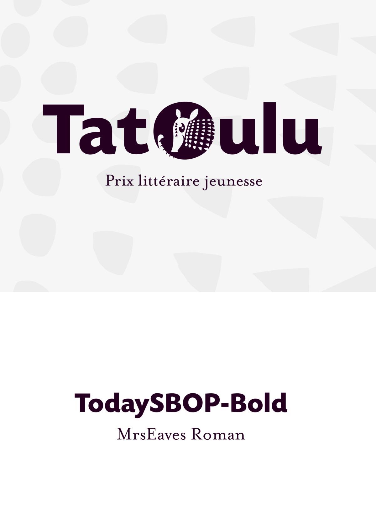 Création du logo du prix Tatoulu - janzé- Bretagne