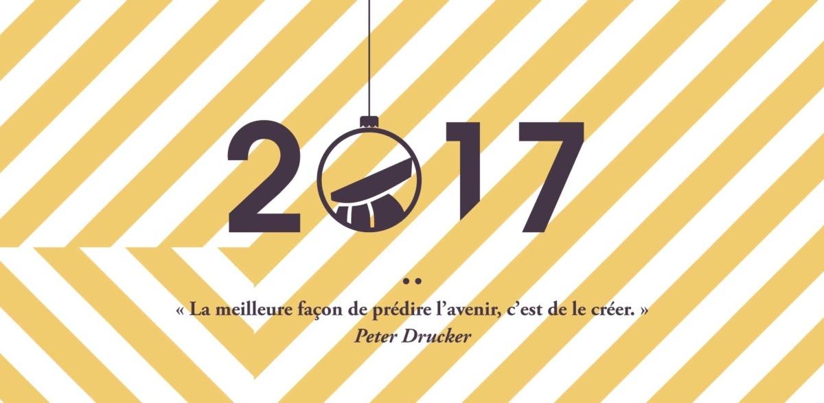 Visuel crée pour les vœeux 2017 de la communauté de communes au pays de la roche aux Fées