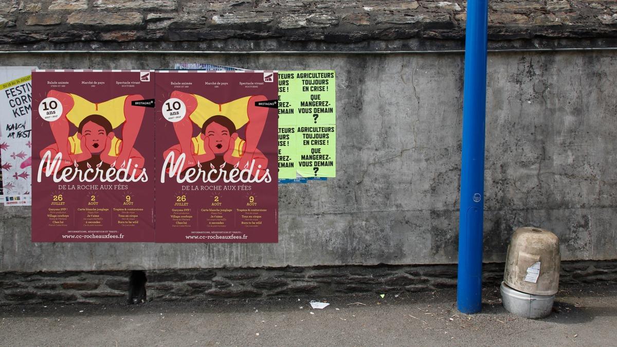 Photo rue Affiche des Mercredis de la roche aux Fées 2017 - Janzé