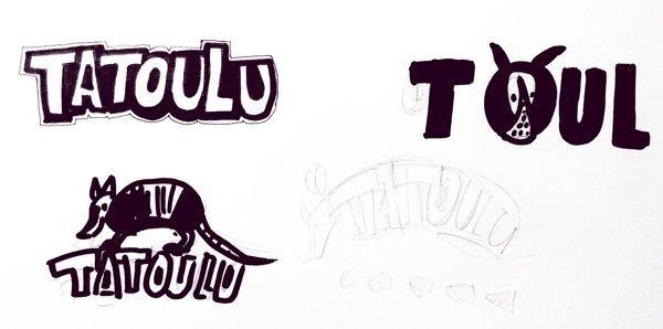 esquisse dessin tatou pour logo